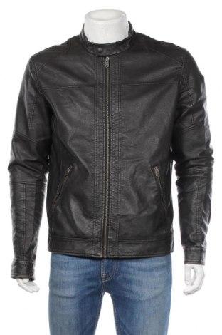 Pánská kožená bunda  Jack & Jones, Rozměr L, Barva Černá, Eko kůže, Cena  812,00Kč