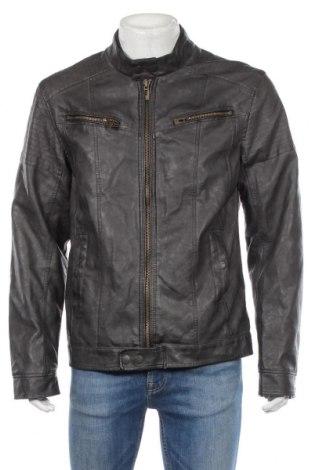Pánská kožená bunda  Manguun, Rozměr XL, Barva Šedá, Eko kůže, Cena  687,00Kč