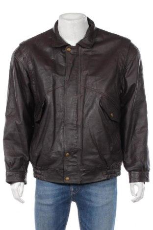 Pánská kožená bunda  Oswald Hissmann, Rozměr XL, Barva Hnědá, Pravá kůže, Cena  1156,00Kč