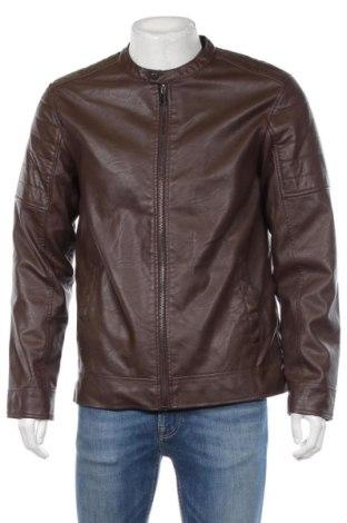 Pánská kožená bunda  Primark, Rozměr L, Barva Hnědá, Eko kůže, Cena  594,00Kč