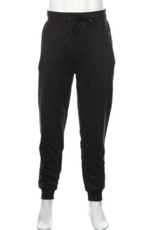 Мъжко спортно долнище, Размер L, Цвят Черен, 50% памук, 50% полиестер, Цена 28,08лв.
