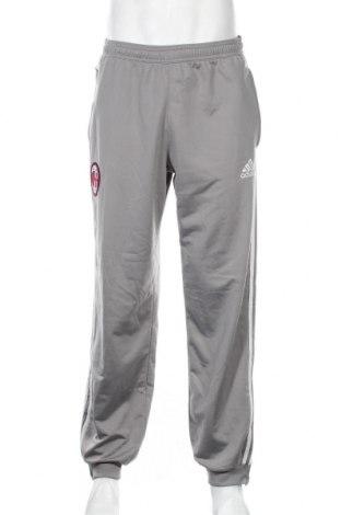 Pantaloni trening de bărbați Adidas, Mărime L, Culoare Gri, Poliester, Preț 155,37 Lei