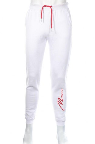 Мъжко спортно долнище Boohoo, Размер S, Цвят Бял, 70% памук, 30% полиестер, Цена 27,36лв.