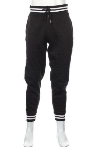 Мъжко спортно долнище Boohoo, Размер L, Цвят Черен, 50% памук, 50% полиестер, Цена 25,92лв.