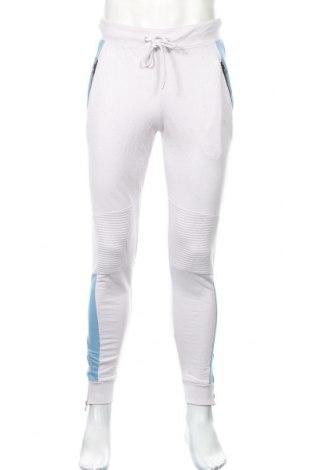 Мъжко спортно долнище Boohoo, Размер M, Цвят Бял, 50% памук, 50% полиестер, Цена 25,92лв.