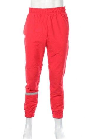 Pantaloni trening de bărbați PUMA, Mărime L, Culoare Roșu, 92% poliamidă, 8% elastan, Preț 155,37 Lei