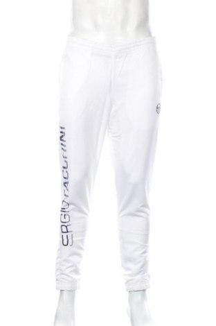 Pantaloni trening de bărbați Sergio Tacchini, Mărime S, Culoare Alb, 100% poliester, Preț 130,74 Lei