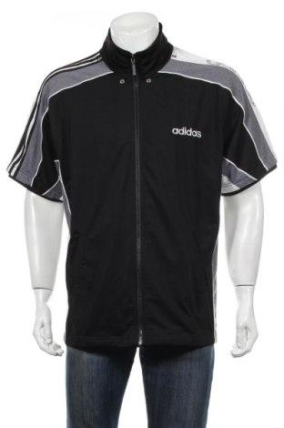 Ανδρική αθλητική ζακέτα Adidas, Μέγεθος M, Χρώμα Μαύρο, Πολυεστέρας, Τιμή 9,55€