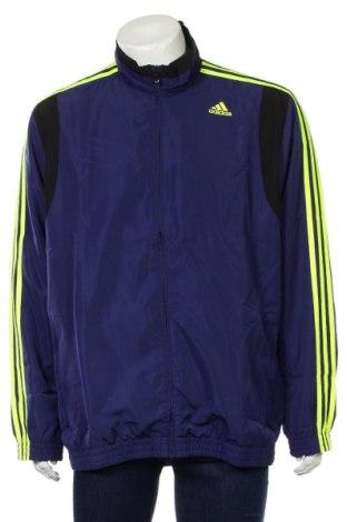Ανδρική αθλητική ζακέτα Adidas, Μέγεθος XXL, Χρώμα Μπλέ, Πολυεστέρας, Τιμή 28,07€