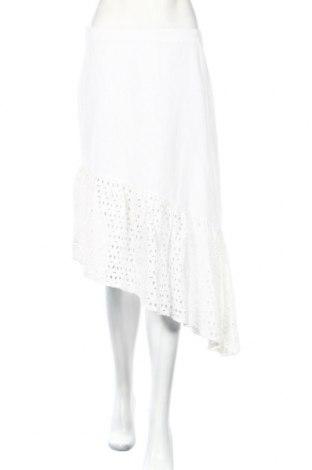 Φούστα Boohoo, Μέγεθος M, Χρώμα Λευκό, Βαμβάκι, Τιμή 13,73€
