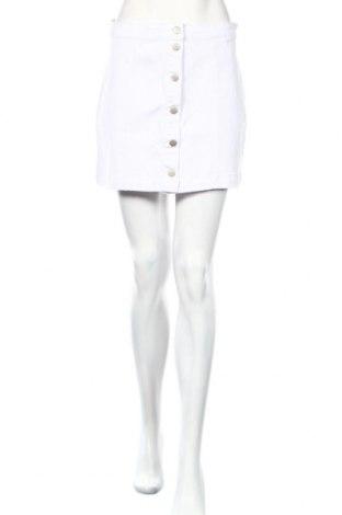 Φούστα Boohoo, Μέγεθος M, Χρώμα Λευκό, 65% βαμβάκι, 33% πολυεστέρας, 2% ελαστάνη, Τιμή 11,51€