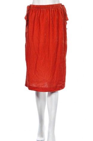 Пола H&M, Размер S, Цвят Оранжев, 72% вискоза, 28% полиестер, Цена 4,61лв.