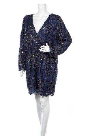 Šaty  Boohoo, Veľkosť XXL, Farba Modrá, Polyester, Cena  21,65€