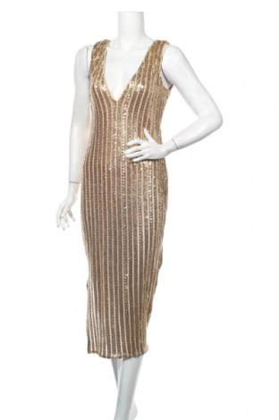 Šaty  Boohoo, Veľkosť L, Farba Zlatistá, Polyester, Cena  26,80€