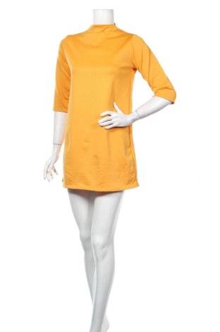 Šaty  Boohoo, Veľkosť S, Farba Žltá, 95% polyester, 5% elastan, Cena  22,68€