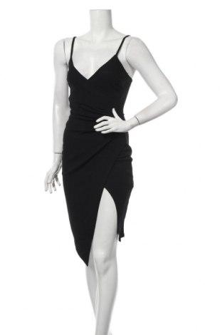 Šaty  Boohoo, Veľkosť XS, Farba Čierna, 95% polyester, 5% elastan, Cena  22,68€