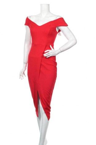Šaty  Boohoo, Veľkosť M, Farba Červená, 95% polyester, 5% elastan, Cena  24,74€