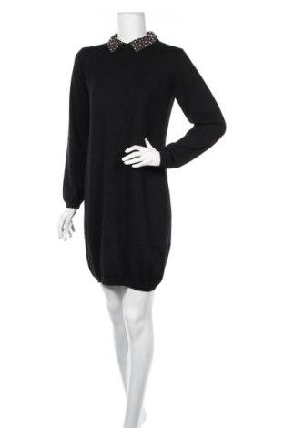 Šaty  Derhy, Veľkosť L, Farba Čierna, 55% polyester, 20%acryl , 20% polyamide, 5% vlna, Cena  64,23€