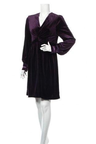 Šaty  Derhy, Veľkosť L, Farba Fialová, 95% polyester, 5% elastan, Cena  53,27€