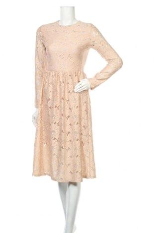 Sukienka H&M, Rozmiar S, Kolor Beżowy, Poliamid, Cena 108,00zł