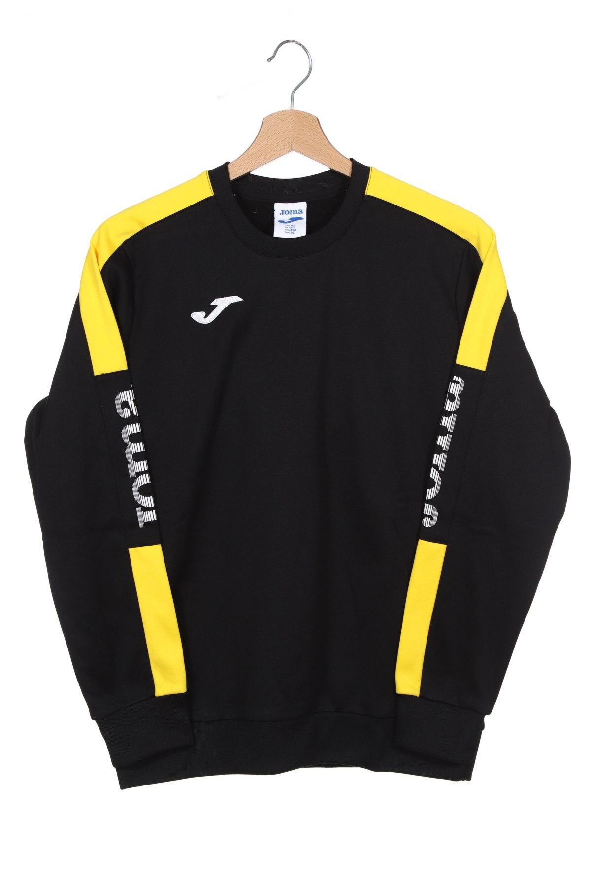Детска спортна блуза Joma, Размер 13-14y/ 164-168 см, Цвят Черен, Полиестер, Цена 10,64лв.