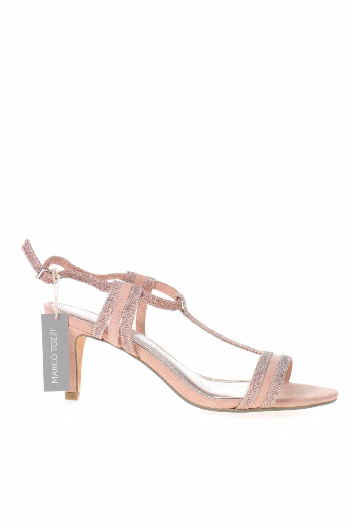 Σανδάλια Marco Tozzi, Μέγεθος 37, Χρώμα Ρόζ , Κλωστοϋφαντουργικά προϊόντα, Τιμή 23,62€