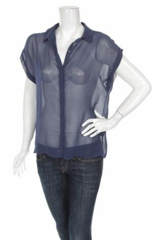 Γυναικείο πουκάμισο H&M Divided, Μέγεθος L, Χρώμα Μπλέ, 100% πολυεστέρας, Τιμή 8,76€