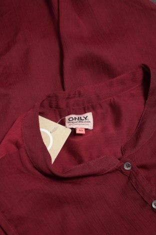 Γυναικείο πουκάμισο Only, Μέγεθος M, Χρώμα Κόκκινο, Τιμή 10,52€