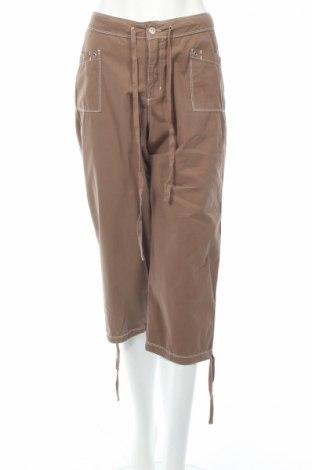 Дамски панталон Fresh Produce, Размер M, Цвят Кафяв, Памук, Цена 6,46лв.