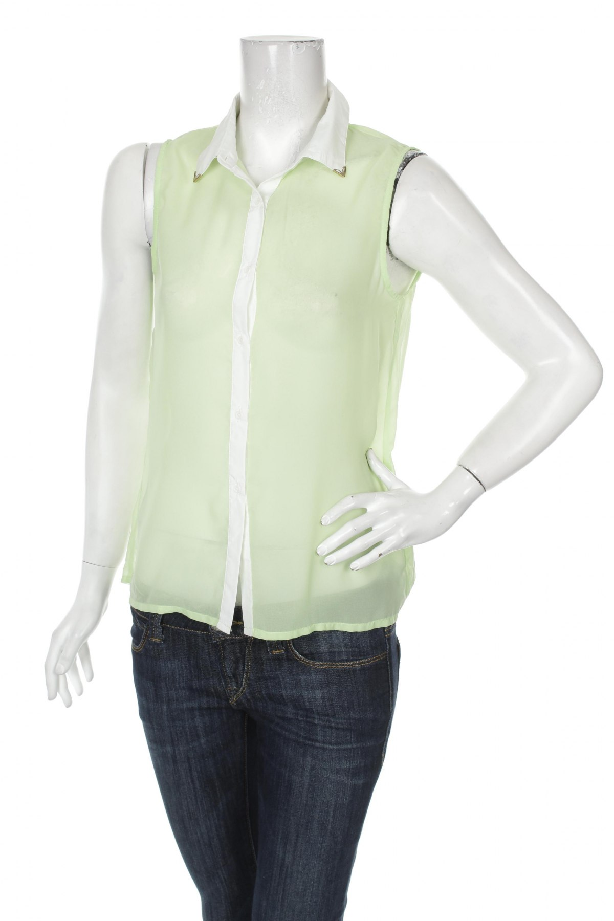 Γυναικείο αμάνικο μπλουζάκι Bik Bok, Μέγεθος S, Χρώμα Πράσινο, 100% πολυεστέρας, Τιμή 9,90€