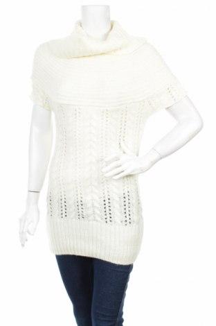 Дамски пуловер, Размер M, Цвят Бял, 60% акрил, 30% вълна, 10% еластан, Цена 29,12лв.