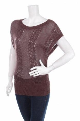 Дамски пуловер H&M, Размер S, Цвят Кафяв, 70% лен, 30% вискоза, Цена 5,98лв.
