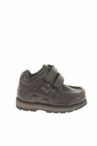 Детски обувки Fila, Размер 20, Цвят Черен, Естествена кожа, Цена 85,00лв.