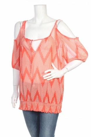 Дамска блуза Maurices, Размер L, Цвят Оранжев, 100% полиестер, Цена 4,60лв.