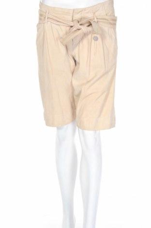 Γυναικείο κοντό δερμάτινο παντελόνι Hugo Boss