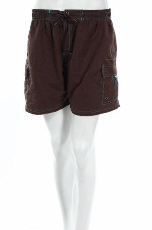 Γυναικείο κοντό παντελόνι Okay, Μέγεθος L, Χρώμα Καφέ, Πολυεστέρας, Τιμή 3,06€