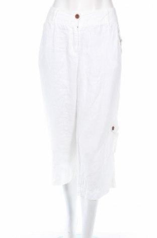 Γυναικείο παντελόνι Style & Co, Μέγεθος L, Χρώμα Λευκό, 100% λινό, Τιμή 5,63€