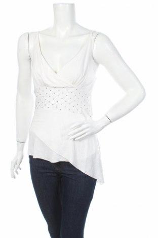 Γυναικείο αμάνικο μπλουζάκι Aldinova, Μέγεθος M, Χρώμα Λευκό, 95% βαμβάκι, 5% ελαστάνη, Τιμή 1,70€