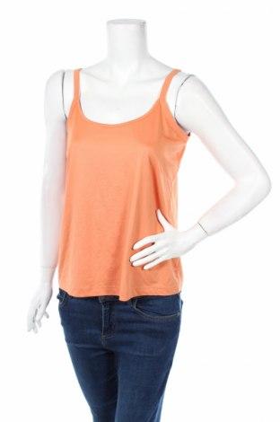 Γυναικείο αμάνικο μπλουζάκι Samoon, Μέγεθος L, Χρώμα Πορτοκαλί, 92% πολυεστέρας, 8% ελαστάνη, Τιμή 3,71€