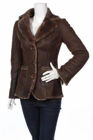 Δερμάτινο γυναικείο παλτό Limited Edition