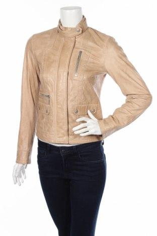 Γυναικείο δερμάτινο μπουφάν Esprit, Μέγεθος XS, Χρώμα  Μπέζ, Γνήσιο δέρμα, Τιμή 80,81€