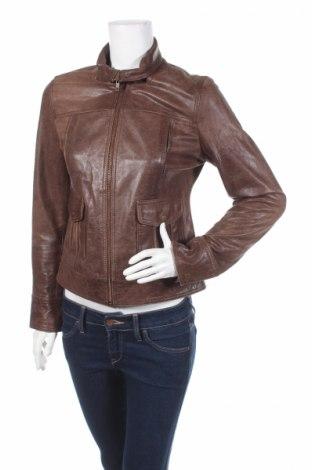 Γυναικείο δερμάτινο μπουφάν Pepe Jeans, Μέγεθος S, Χρώμα Καφέ, Γνήσιο δέρμα, Τιμή 20,97€