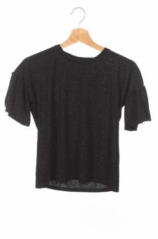Детска блуза Reserved, Размер 9-10y/ 140-146 см, Цвят Черен, 60% памук, 38% полиестер, 2% еластан, Цена 4,20лв.