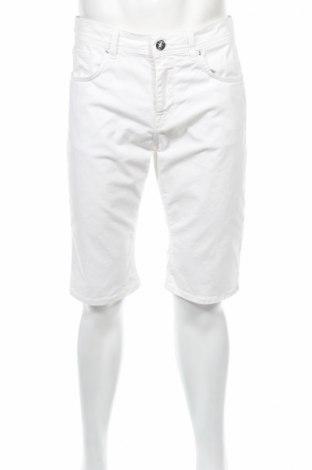 Pantaloni scurți de bărbați David Joss, Mărime L, Culoare Alb, 97% bumbac, 3% elastan, Preț 101,23 Lei