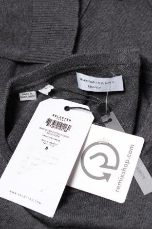 Ανδρικό πουλόβερ Selected Homme, Μέγεθος S, Χρώμα Γκρί, 90% βαμβάκι, 10% μετάξι, Τιμή 31,83€