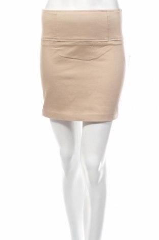 Пола Dazz, Размер S, Цвят Бежов, 97% памук, 3% еластан, Цена 4,62лв.