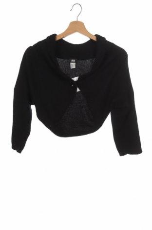 Болеро H&M, Размер XS, Цвят Черен, 50% полиамид, 50% ангора, Цена 11,96лв.