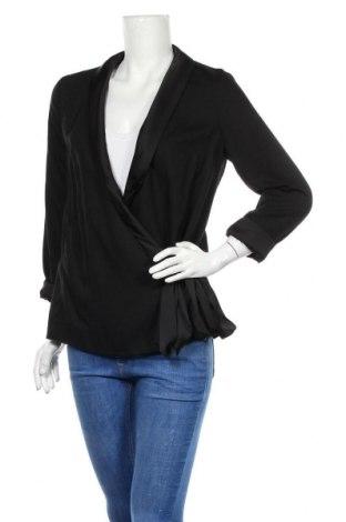 Дамска блуза H&M Conscious Collection, Размер S, Цвят Черен, Тенсел, Цена 20,25лв.