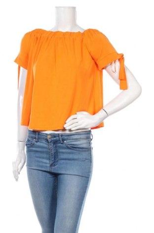 Дамска блуза Mohito, Размер S, Цвят Оранжев, 65% модал, 35% полиестер, Цена 17,25лв.