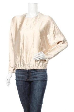Дамска блуза Zara, Размер XS, Цвят Бежов, Полиестер, Цена 11,21лв.